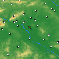 Nearby Forecast Locations - Ivanić-Grad - Map