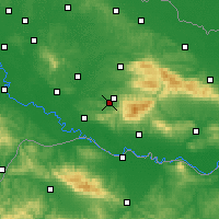 Nearby Forecast Locations - Lipik - Map