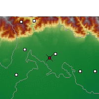 Nearby Forecast Locations - Jalpaiguri - Map
