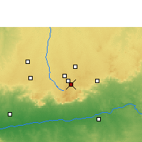 Nearby Forecast Locations - Mhow - Map