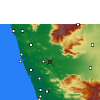 Nearby Forecast Locations - Ottapalam - Map