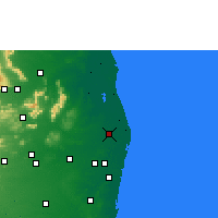 Nearby Forecast Locations - Ponneri - Map