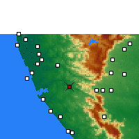 Nearby Forecast Locations - Punalur - Map