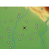 Nearby Forecast Locations - Rampur Maniharan - Map
