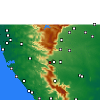 Nearby Forecast Locations - Sengottai - Map