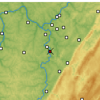 Nearby Forecast Locations - Monessen - Map