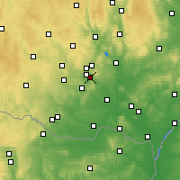 Nearby Forecast Locations - Ivančice - Map
