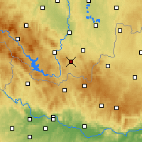 Nearby Forecast Locations - Kaplice - Map