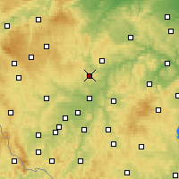 Nearby Forecast Locations - Kaznějov - Map