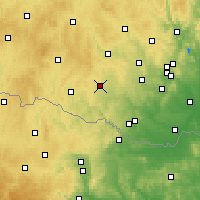 Nearby Forecast Locations - Moravské Budějovice - Map