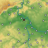 Nearby Forecast Locations - Roudnice nad Labem - Map