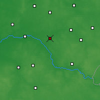 Nearby Forecast Locations - Ciechanowiec - Map