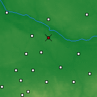 Nearby Forecast Locations - Gąbin - Map