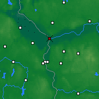 Nearby Forecast Locations - Kostrzyn nad Odrą - Map