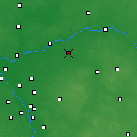 Nearby Forecast Locations - Łochów - Map