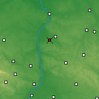 Nearby Forecast Locations - Opole Lubelskie - Map