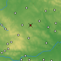 Nearby Forecast Locations - Sędziszów - Map