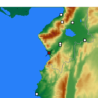 Nearby Forecast Locations - Samandağ - Map