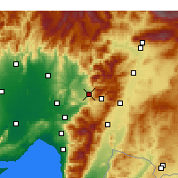 Nearby Forecast Locations - Düziçi - Map