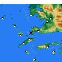 Nearby Forecast Locations - Turgutreis - Map