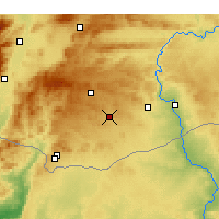 Nearby Forecast Locations - Oğuzeli - Map