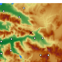 Nearby Forecast Locations - Buldan - Map