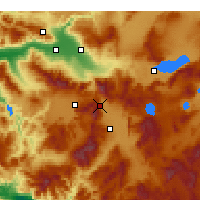 Nearby Forecast Locations - Serinhisar - Map