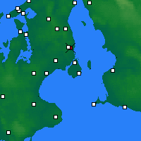 Nearby Forecast Locations - Gentofte - Map