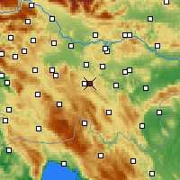 Nearby Forecast Locations - Dobrepolje - Map