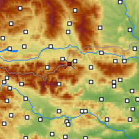 Nearby Forecast Locations - Mežica - Map