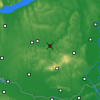 Nearby Forecast Locations - Dombóvár - Map