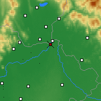 Nearby Forecast Locations - Kisvárda - Map