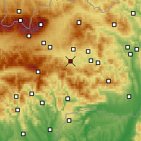 Nearby Forecast Locations - Spišská Nová Ves - Map