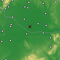 Nearby Forecast Locations - Veľký Meder - Map