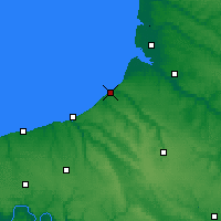 Nearby Forecast Locations - Le Tréport - Map