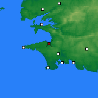 Nearby Forecast Locations - Douarnenez - Map