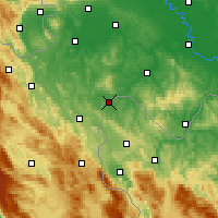 Nearby Forecast Locations - Velika Kladuša - Map