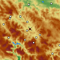 Nearby Forecast Locations - Visoko - Map