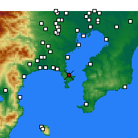 Nearby Forecast Locations - Yokosuka - Map