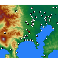 Nearby Forecast Locations - Machida - Map