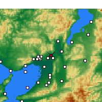 Nearby Forecast Locations - Takatsuki - Map