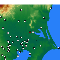 Nearby Forecast Locations - Tsukuba - Map