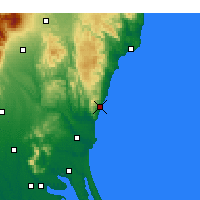 Nearby Forecast Locations - Hitachi - Map