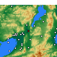 Nearby Forecast Locations - Uji - Map