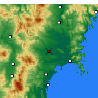 Nearby Forecast Locations - Ōsaki - Map