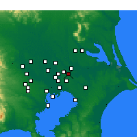 Nearby Forecast Locations - Abiko - Map