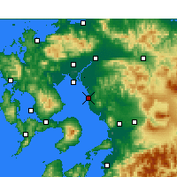 Nearby Forecast Locations - Ōmuta - Map