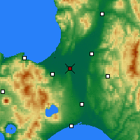 Nearby Forecast Locations - Ebetsu - Map