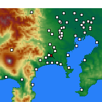 Nearby Forecast Locations - Ebina - Map
