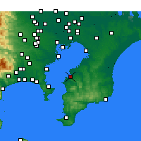 Nearby Forecast Locations - Kisarazu - Map